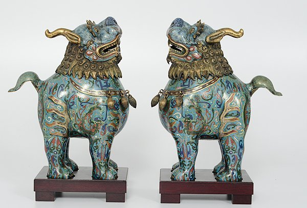 234: Chinese Cloisonne Mythological Beasts