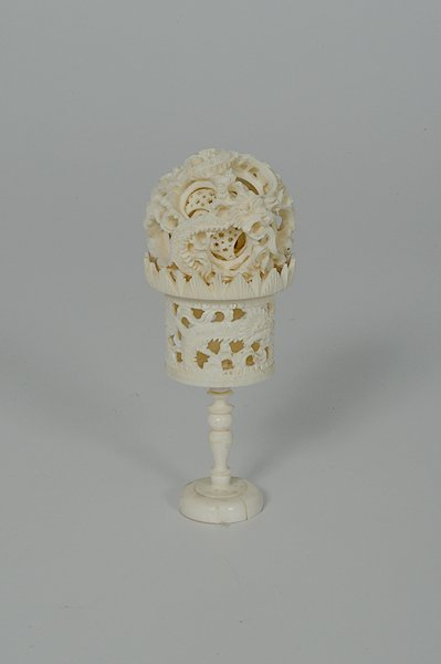 250: Ivory Puzzle Ball on Stand
