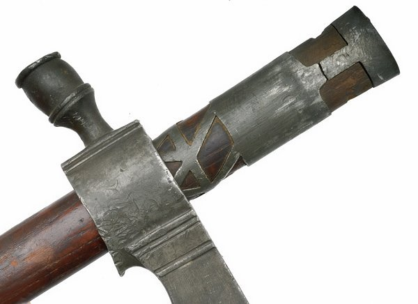 1: French and Indian War Pewter Pipe Tomahawk - 4