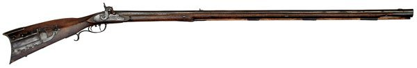 4: Full-Stock Percussion Rifle Attributed to Abraham Ho