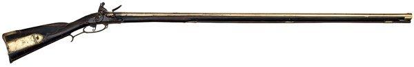 6: Early Brass Barrel Kentucky Rifle Dated 1771, Attrib