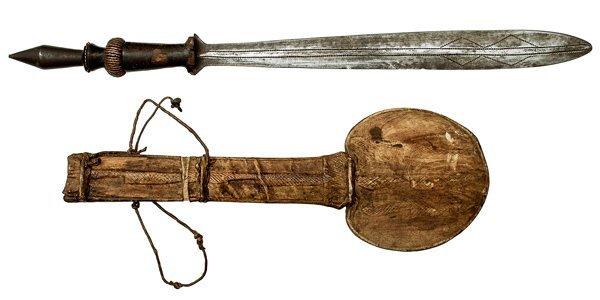 11: African Yaka Knife and Sheath