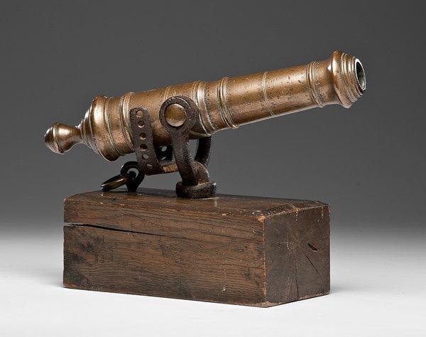 18: Brass Swivel Gun Cannon French and Indian War Era