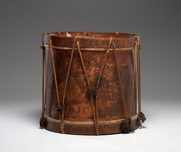 20: Early American Patriotic Painted Drum