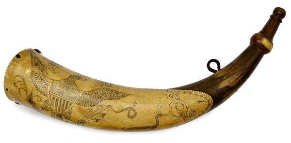 26: Early American Tansel Powder Horn