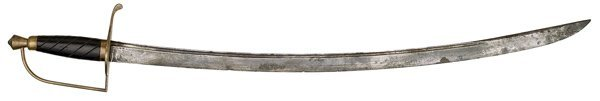 32: American Revolutionary War Saber Attributed to Jere
