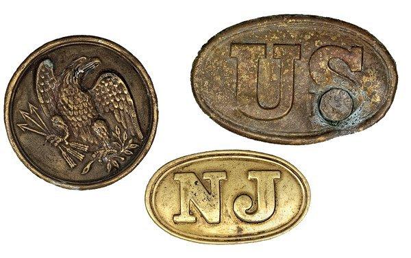 150: US Civil War Belt Plates Lot of Three