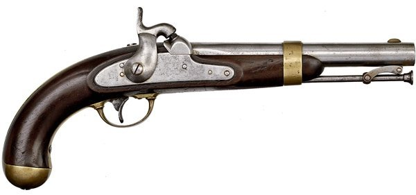 267: Model 1842 H. Aston Percussion Single Shot Pistol