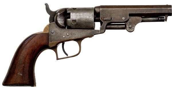 286: Colt Model 1849 Pocket Revolver with Square Back T