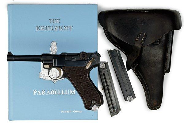 512: *WWII German P08 Krieghoff Luger Pistol with Holst