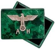 531: German WWII Adolf Hitler Cuff Link Box