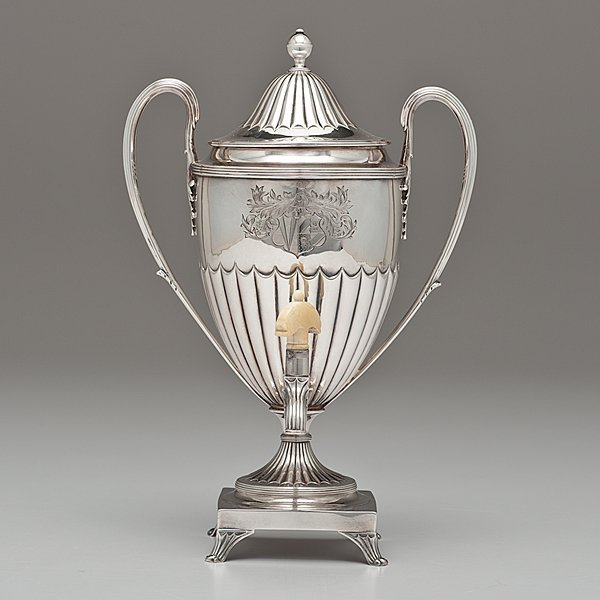 1: George III Sterling Hot Water Urn