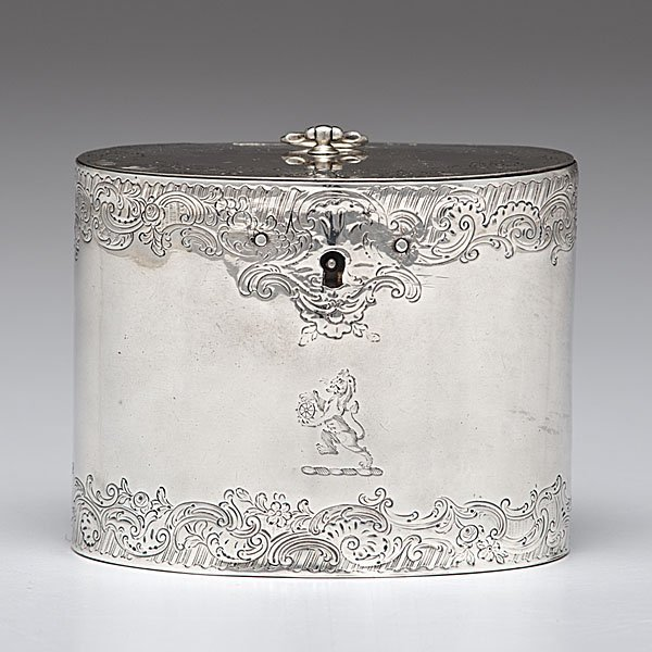 3: George III Sterling Tea Caddy