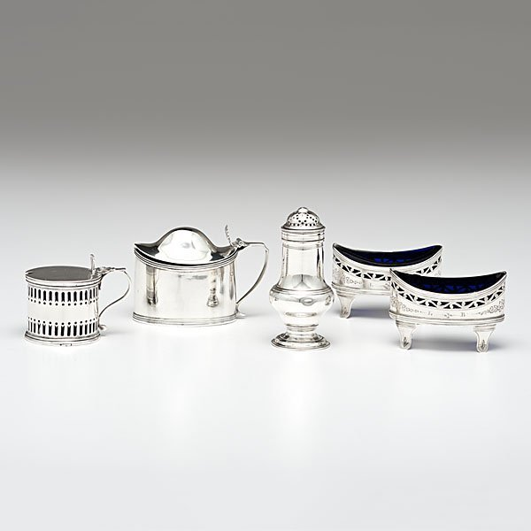 21: George III Sterling Salts and Mustard Pots