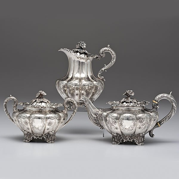 48: Indian Sterling Partial Tea  and Coffee Service
