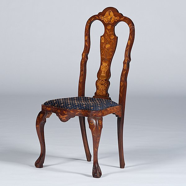 97: Dutch Marquetry Side Chair