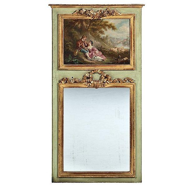 102: Louis XV-style Trumeau Mirror