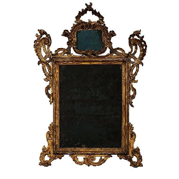 103: English Rococo-Style Mirror