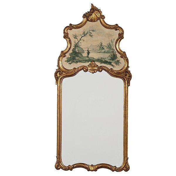 104: Italian  Rococo-style Trumeau Mirror