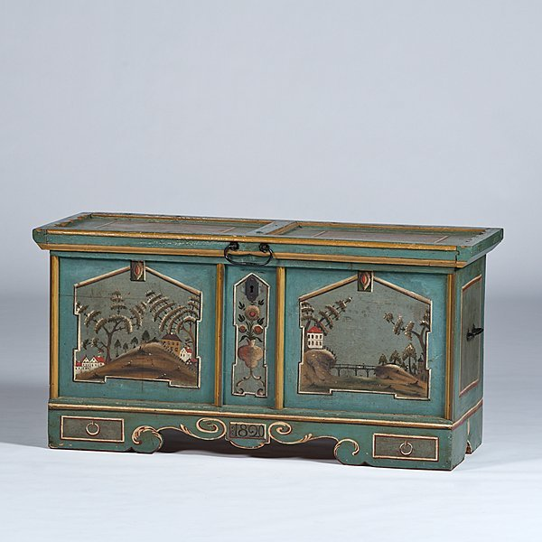 107: Painted and Carved Chest