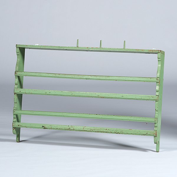 213: Plate Rack in Green Paint