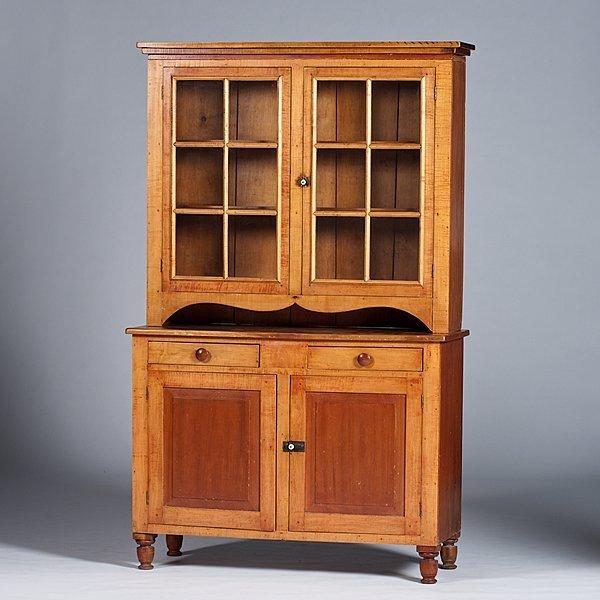 218: Indiana Maple Stepback Cupboard