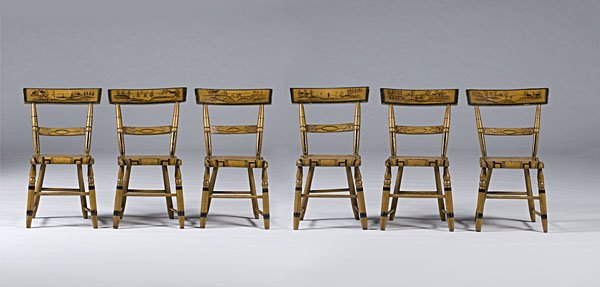 222: American Painted Fancy Chairs