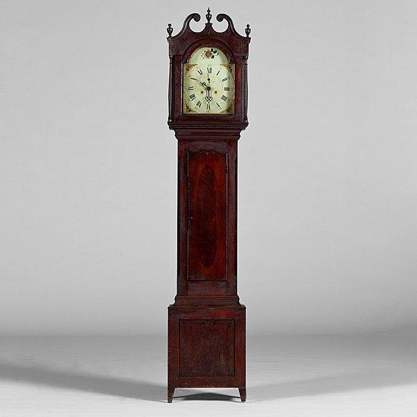 224: Luman Watson Ohio Tall Case Clock