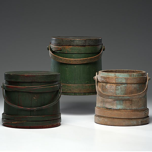 229: Painted Wooden Firkins