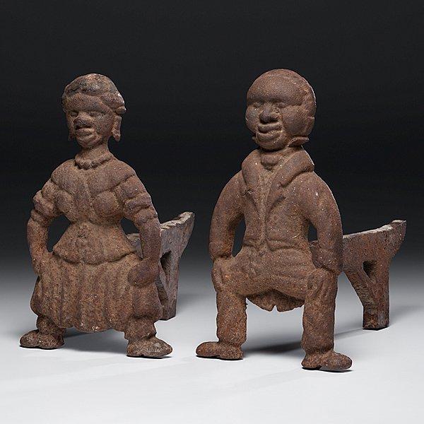 233: Figural Negro Andirons