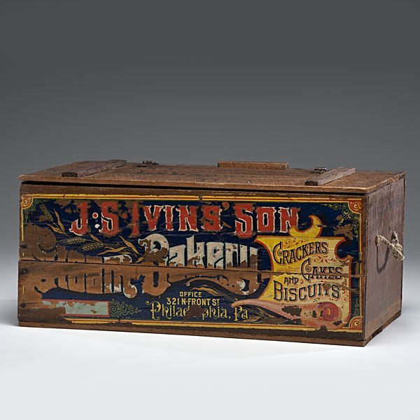 248: J.S. Ivins' Son Steam Bakery Advertising Crate