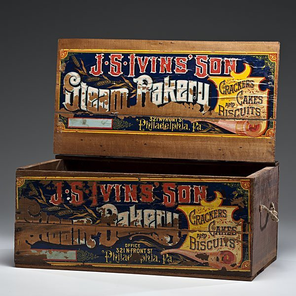 248: J.S. Ivins' Son Steam Bakery Advertising Crate - 2