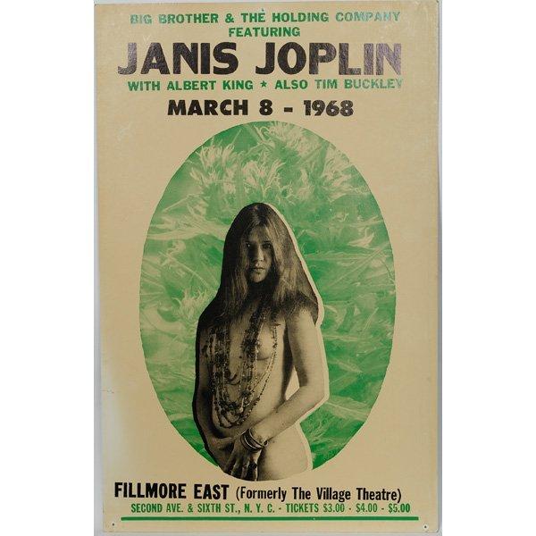176 Two Janis Joplin Concert Posters