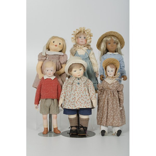 246: American and German Bisque and Cloth Dolls