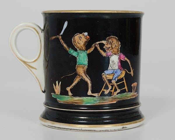 8: Comical Monkey Shaving Mug