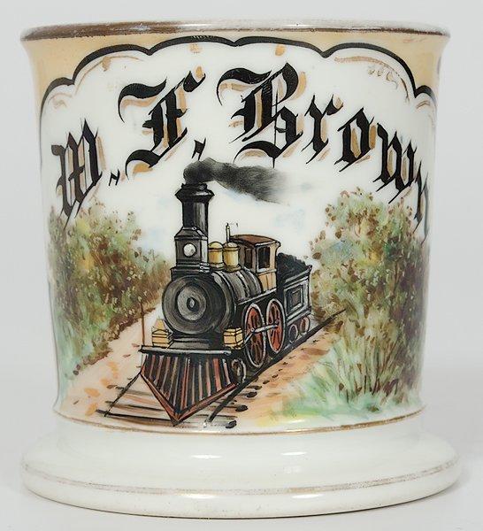 9: Railroad Engineer's Occupational Shaving Mug