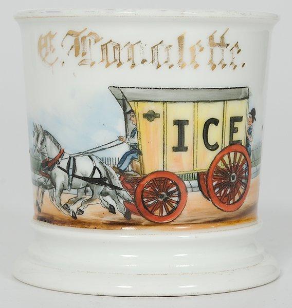 11: Teamster's Occupational Shaving Mug, Ice Wagon