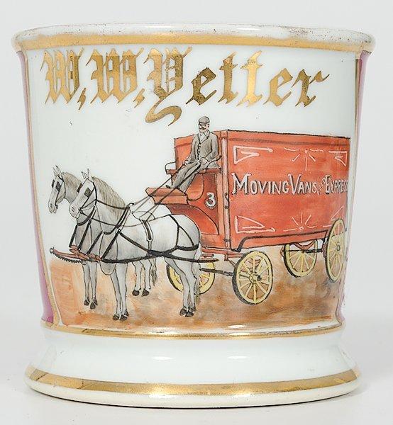 17: Horse-Drawn Mover's Occupational Shaving Mug