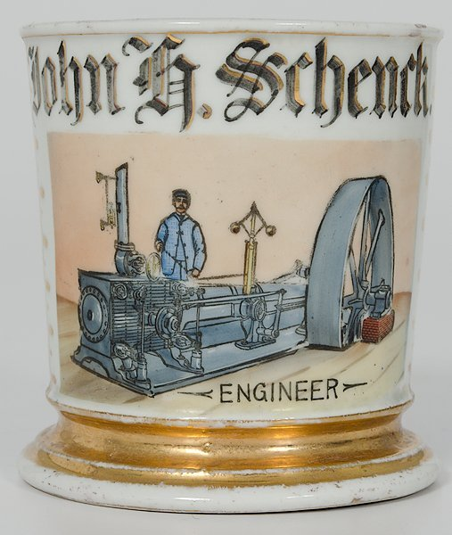 57: Lathe Engineer's Occupational Shaving Mug