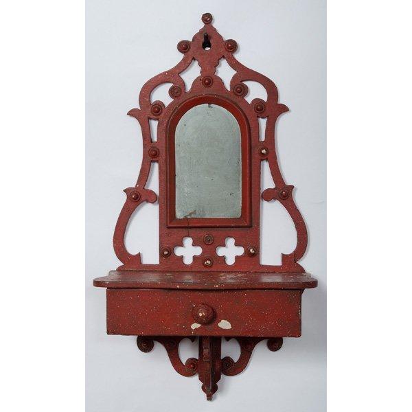 59: Folk Art Shaving Mirror