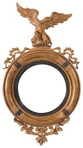68: English Regency Mirror with Eagle