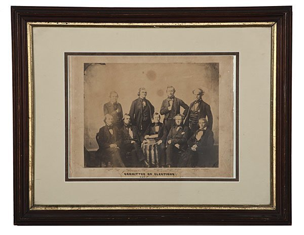 5: Committee on Elections, 1856, Salted Paper Photo
