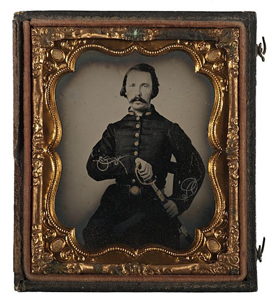 9: Armed Confederate 2nd Lieutenant, Sixth Plate Ambro