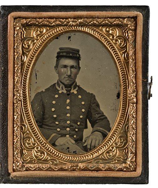 14: Mount Vernon Guards, VA Militiaman, Ruby Ambrotype