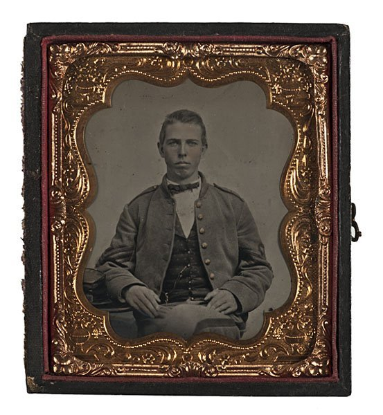 17: Confederate First Sergeant, Sixth Plate Tintype