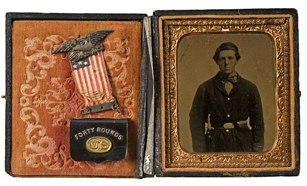 20: 15th Corps Veteran, Tintype, Inset 40 Rounds Badge