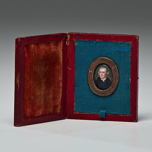 128: Thos Jefferson Miniature by William Russell Birch