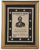 141: Abraham Lincoln Woodcut Memento Mori