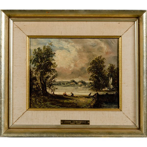 8: 19th Century Oil After John Constable