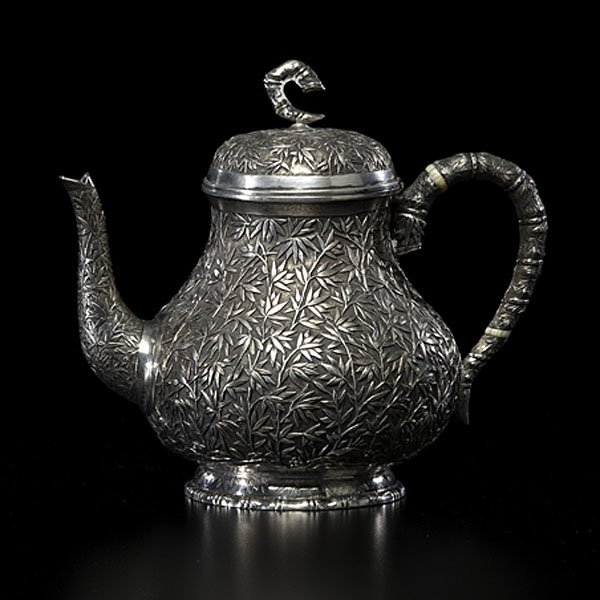22: Chinese Export Silver Teapot